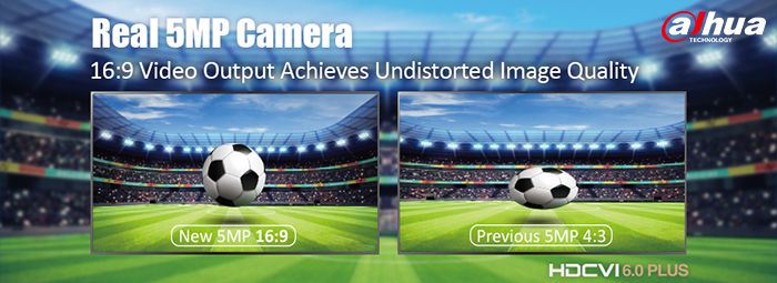 Новая 5-мегапиксельная камера Dahua с форматным соотношением 16:9
